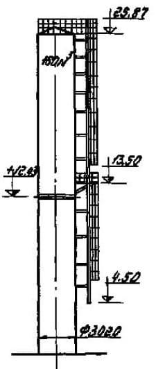Водонапорная башня системы рожновского чертежи